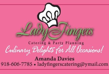 Business Card: Ladyfingers Catering