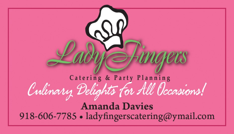 Business Card: Ladyfingers Catering - Virtu Creative